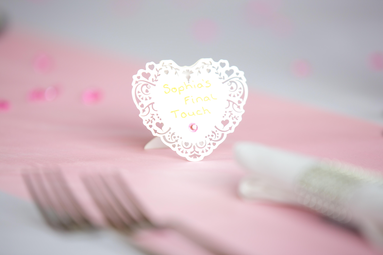 Lazer Cut Place Cards - Sophia's Final Touch - Venue Styling - Weddings