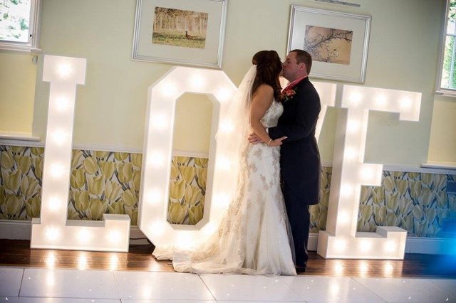 Giant 5ft Light up Love letters - Sophia's Final Touch - Venue Styling - Weddings