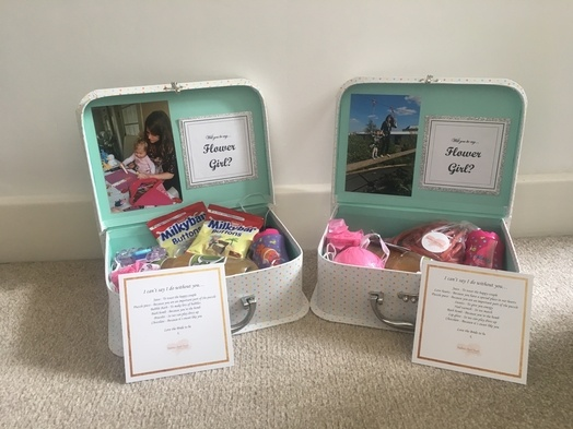 Personalised Flower Girl Boxes - Wedding Venue Styling- Sophia's Final Touch