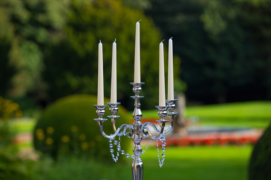 Silver Candelabra Close Up - Sophia's Final Touch - Venue Styling - Weddings