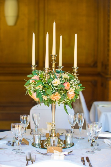 Silver Candelabra with Middle Reef- Sophia's Final Touch - Venue Styling - Weddings