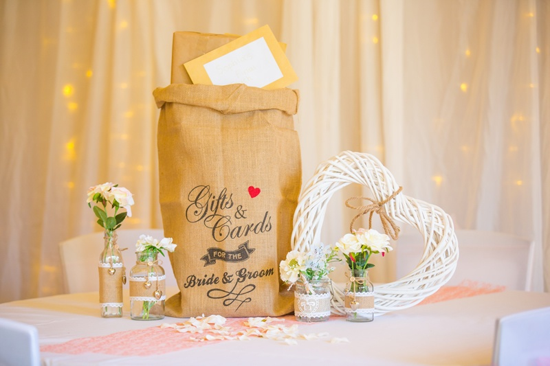 Hessian Post Sack With Wicker Heart - Sophia's Final Touch - Venue Styling - Weddings