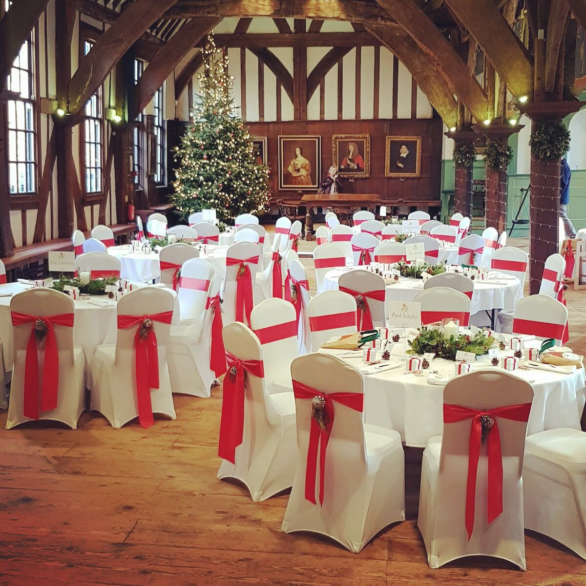 Wedding Breakfast - Christmas Wedding - Merchant Hall - York – Wedding Venue Styling- Sophia's Final Touch- Wedding & Event Decoration