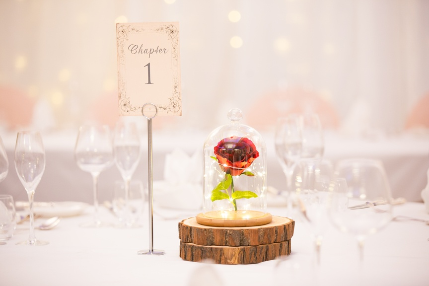 Beauty & The Beast Table Number - Sophia's Final Touch - Venue Styling - Weddings & Event Decoration