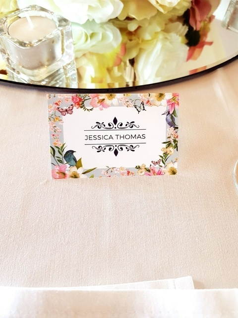 Bespoke Printed Place Cards - Wedding Venue Styling- Sophia's Final Touch