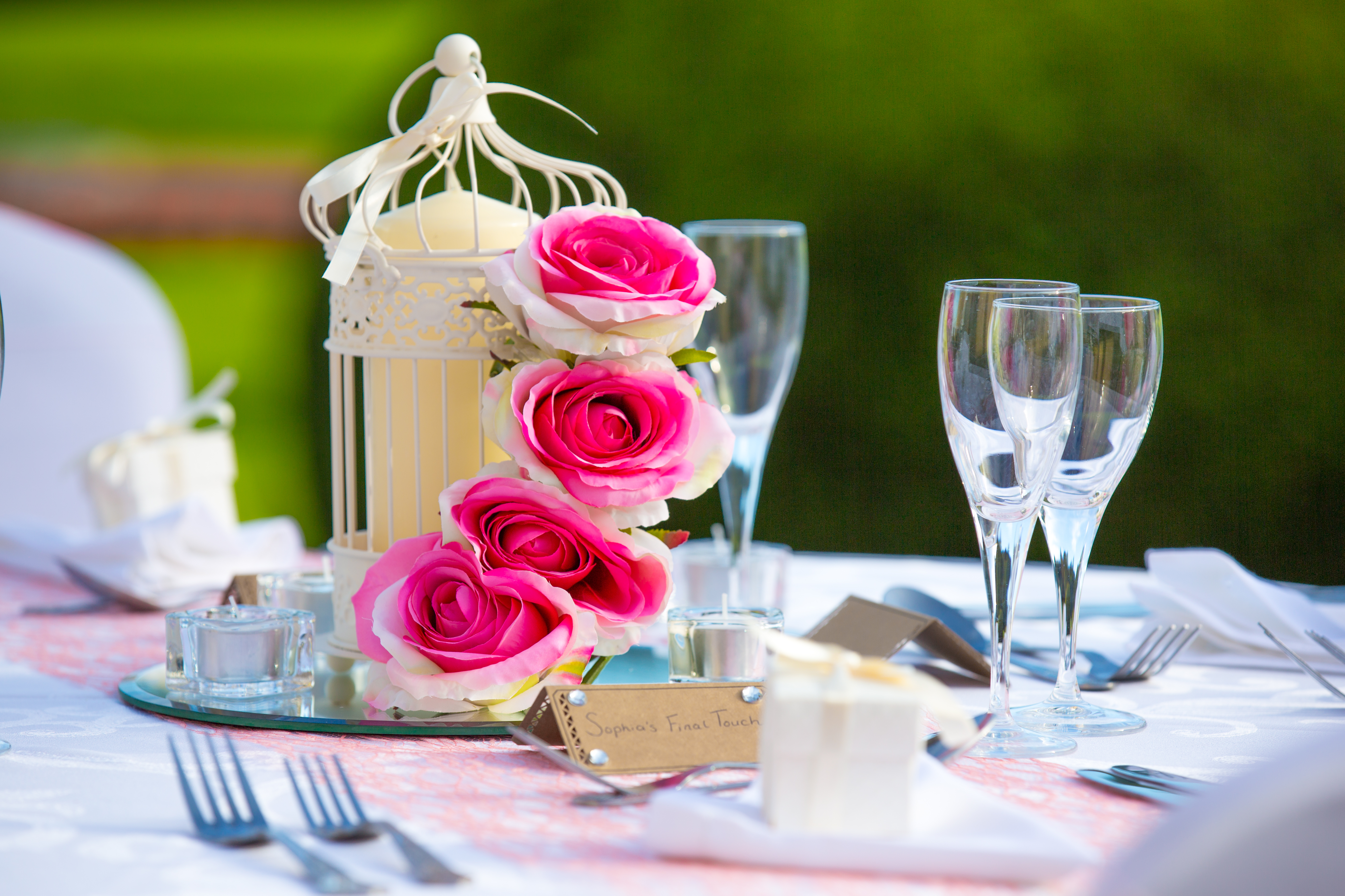 Birdcage with Roses – Wedding Venue Styling- Sophia's Final Touch- Wedding & Event Decoration