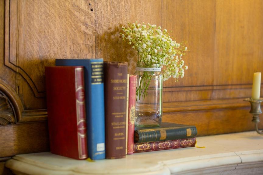 Books, Jam Jars & Gypsophila – Wedding Venue Styling- Sophia's Final Touch- Wedding & Event Decoration