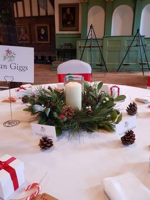 Christmas Wedding Centrepiece – Wedding Venue Styling- Sophia's Final Touch- Wedding & Event Decoration