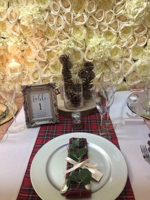 Christmas Tartan – Table Decor – Wedding Venue Styling- Sophia's Final Touch