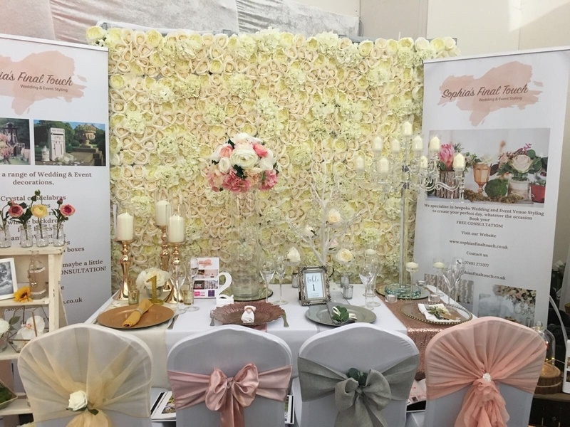 Cream Flower Wall with Roses & Hydrangea Venue Styling- Sophia's Final Touch