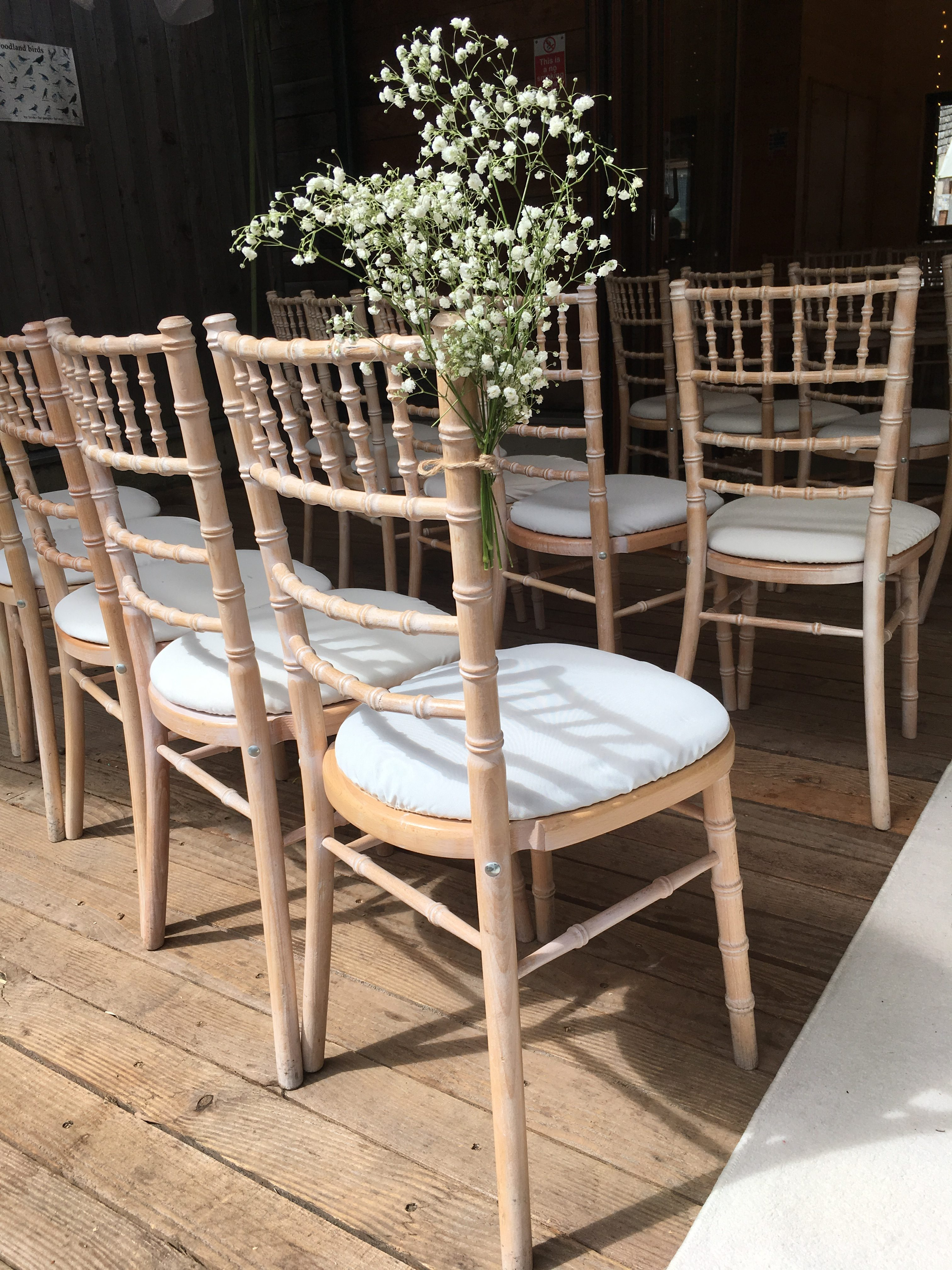 Cream Limewash Chiavari Chairs with Gypsophilla Sophia's Final Touch - Venue Styling - Weddings