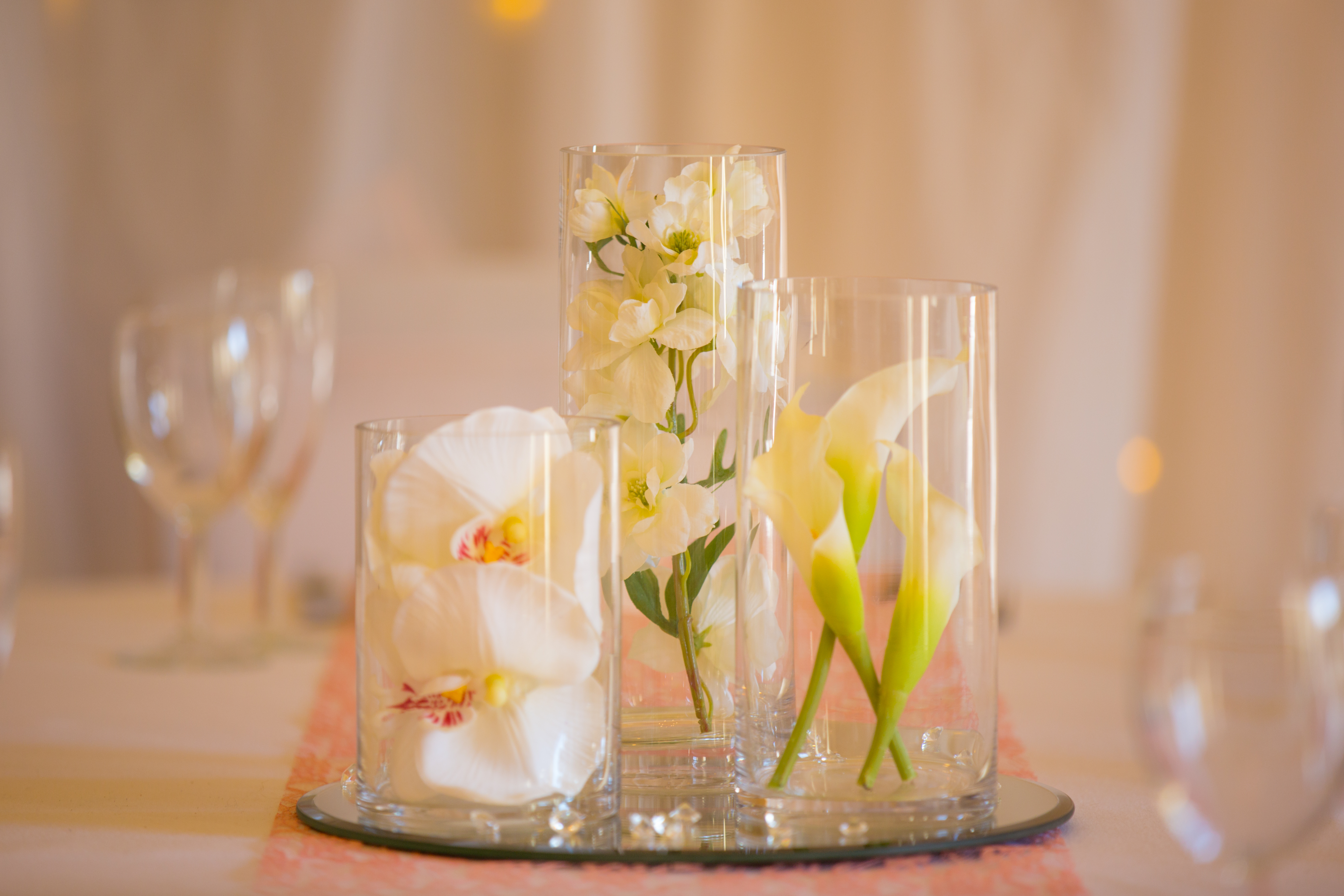 Cylinder with Fresh Flowers  - Sophia's Final Touch - Venue Styling - Weddings & Event Decoration
