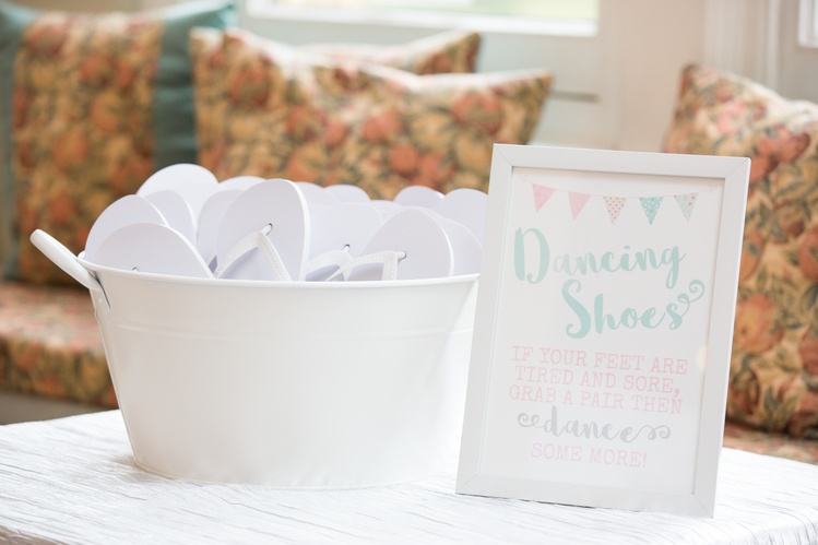 Dancing Feet Flip Flop Tub- Sophia's Final Touch - Venue Styling - Weddings