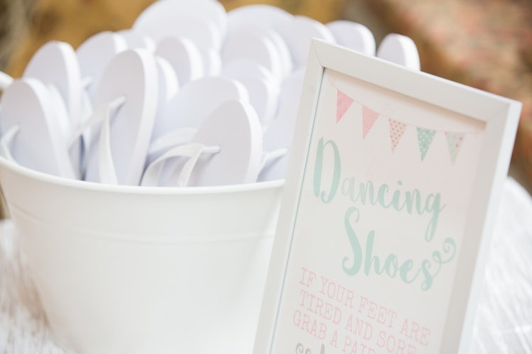 Dancing Feet Sign- Sophia's Final Touch - Venue Styling - Weddings