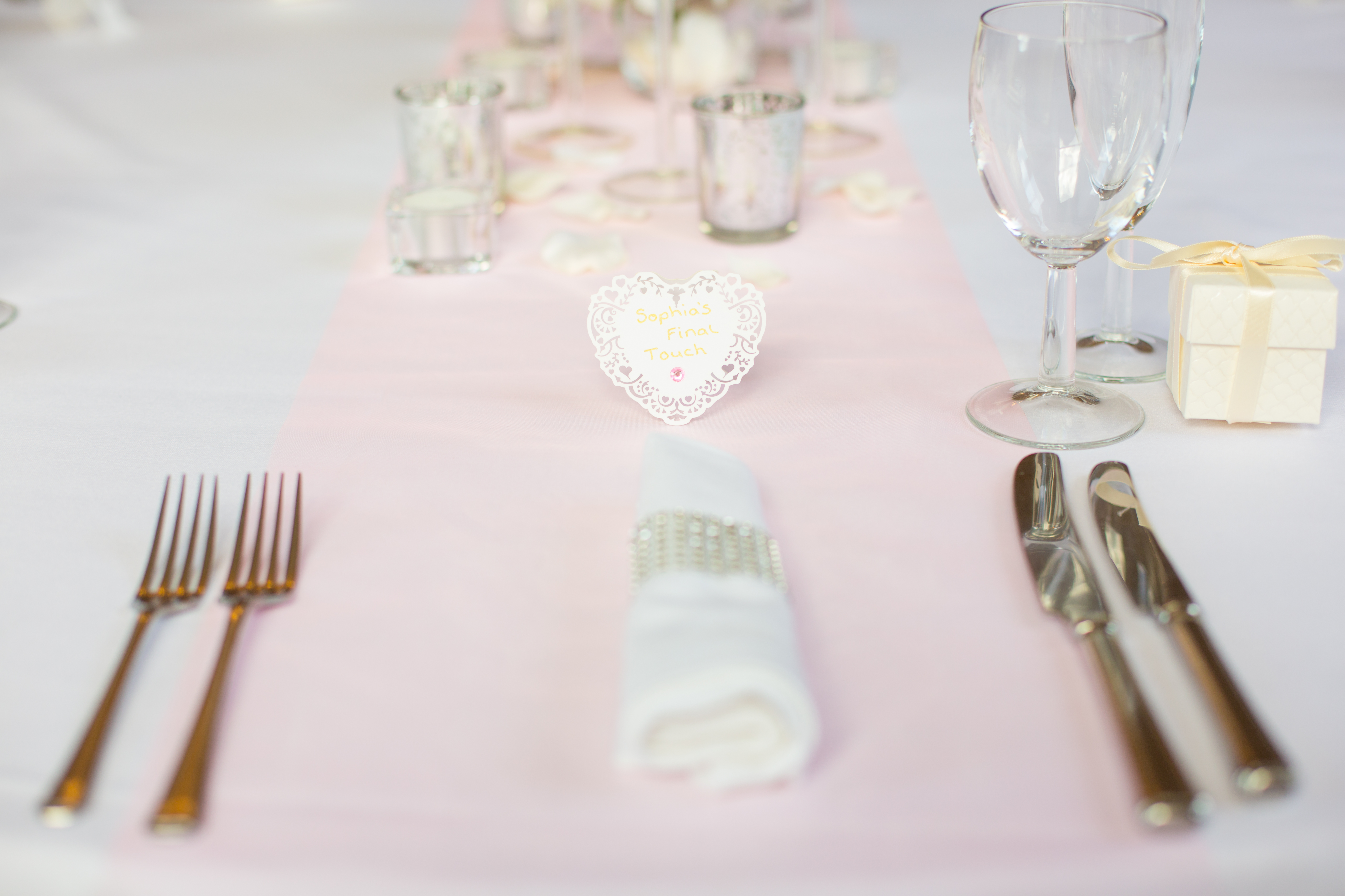 Diamante Napkin Rings  - Sophia's Final Touch - Venue Styling - Weddings & Event Decoration