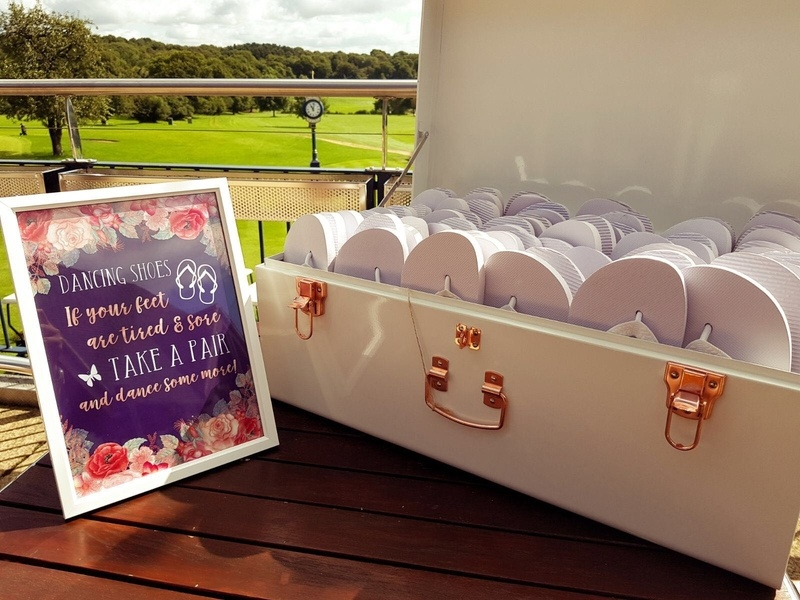 lip Flop Hamper - Dancing Shoes Accessories - Wedding Venue Styling- Sophia's Final Touch