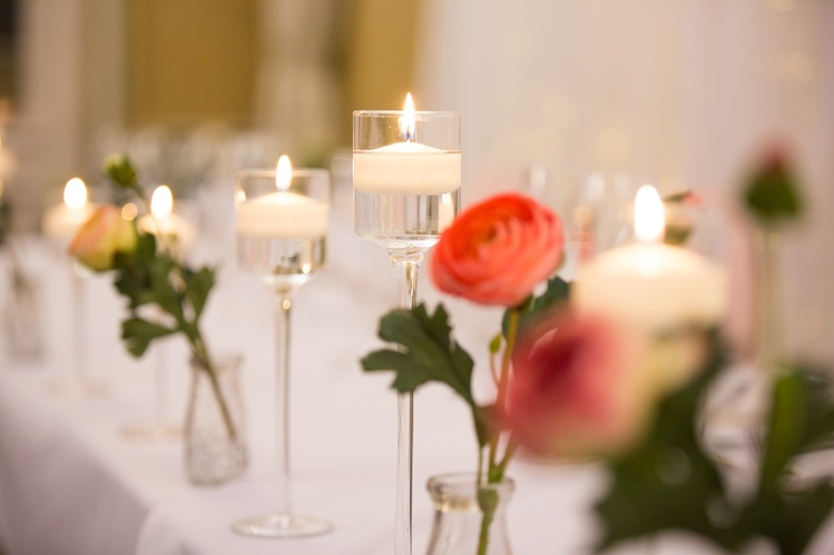 Floating Candles and Flowers Top Table  - Sophia's Final Touch - Venue Styling - Weddings & Event Decoration