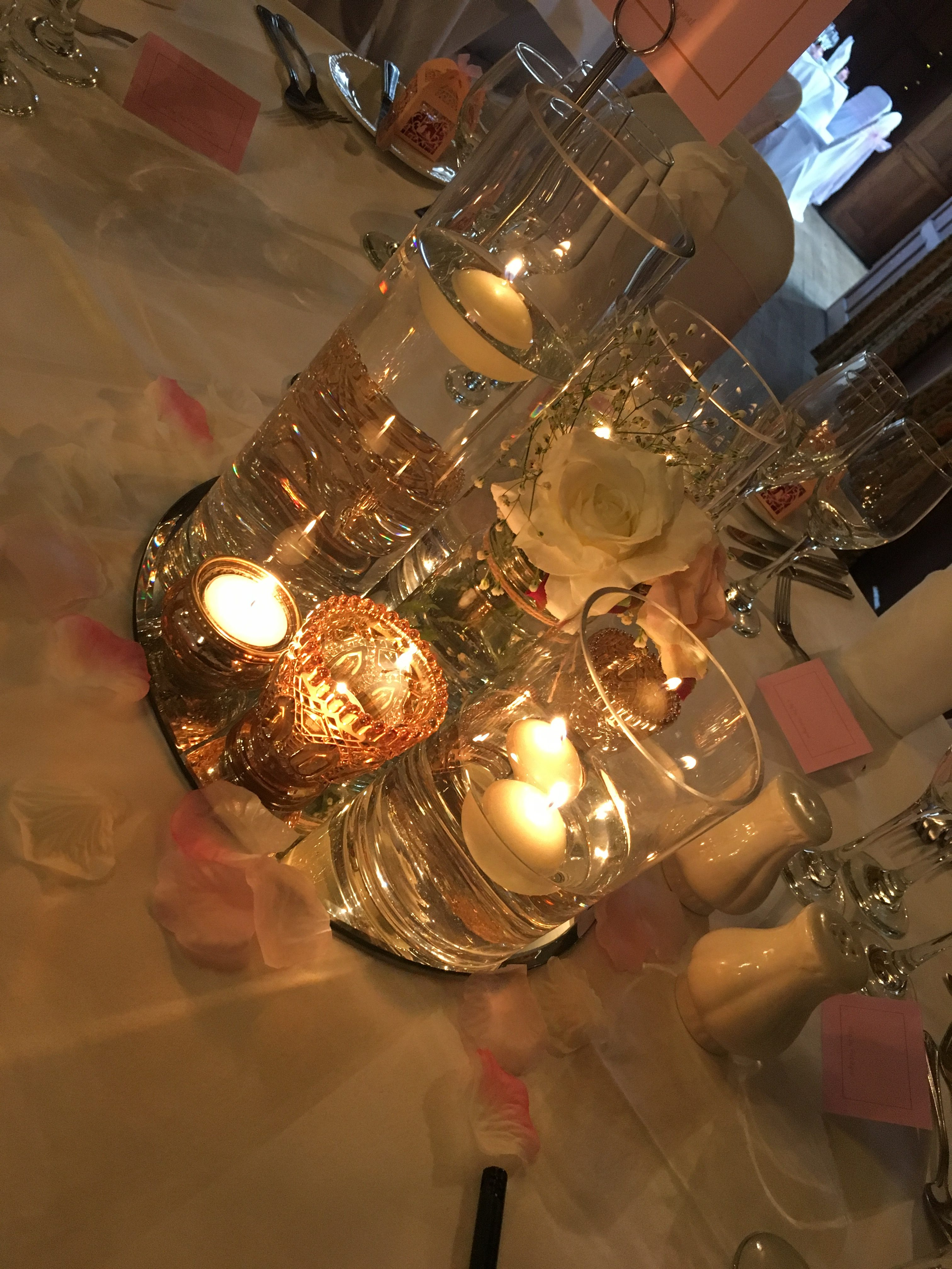 Floating Candles - Pink & Gold Sophia's Final Touch - Venue Styling - Weddings