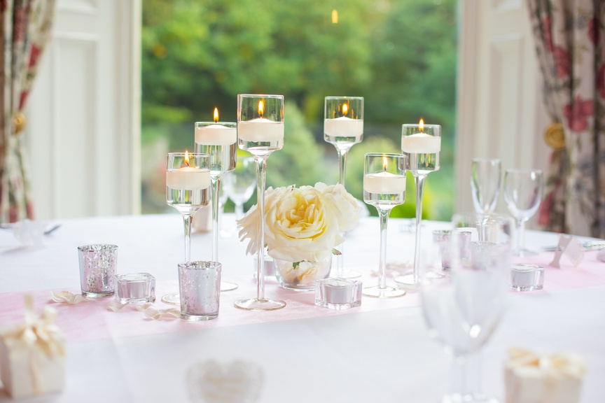 Floating Candles with Flowers – Wedding Venue Styling- Sophia's Final Touch- Wedding & Event Decoration