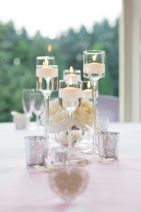 Floating Candles With Flower Centre – Wedding Venue Styling- Sophia's Final Touch- Wedding & Event Decoration