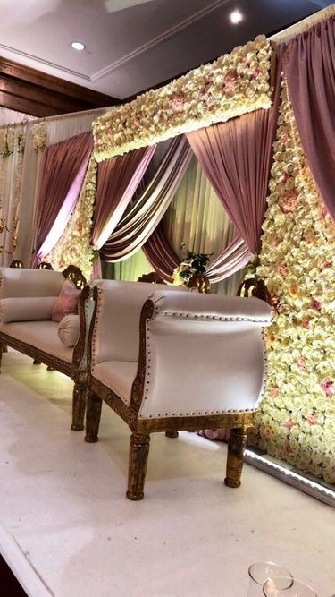 Flower Wall - Close up - Wedding Venue Styling- Sophia's Final Touch
