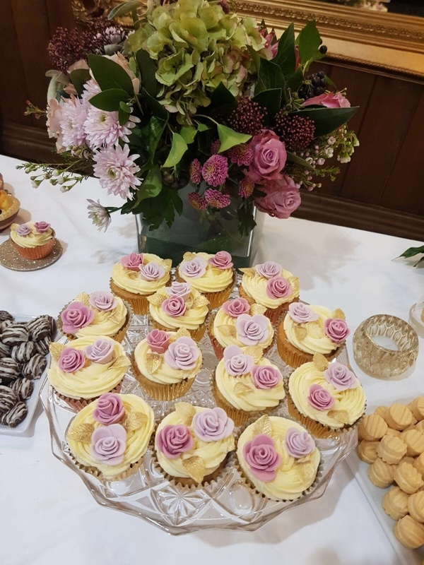 Fresh Floral Hand Tie on Dessert Table- Sophia's Final Touch - Venue Styling - Weddings