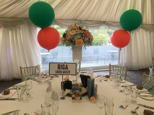 Giant 3ft Balloons -Woodlands Leeds-  Wedding Venue Styling- Sophia's Final Touch