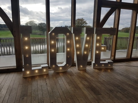 Giant 5ft LOVE Letters at Sandburn Hall - York - Wedding Venue Styling- Sophia's Final Touch