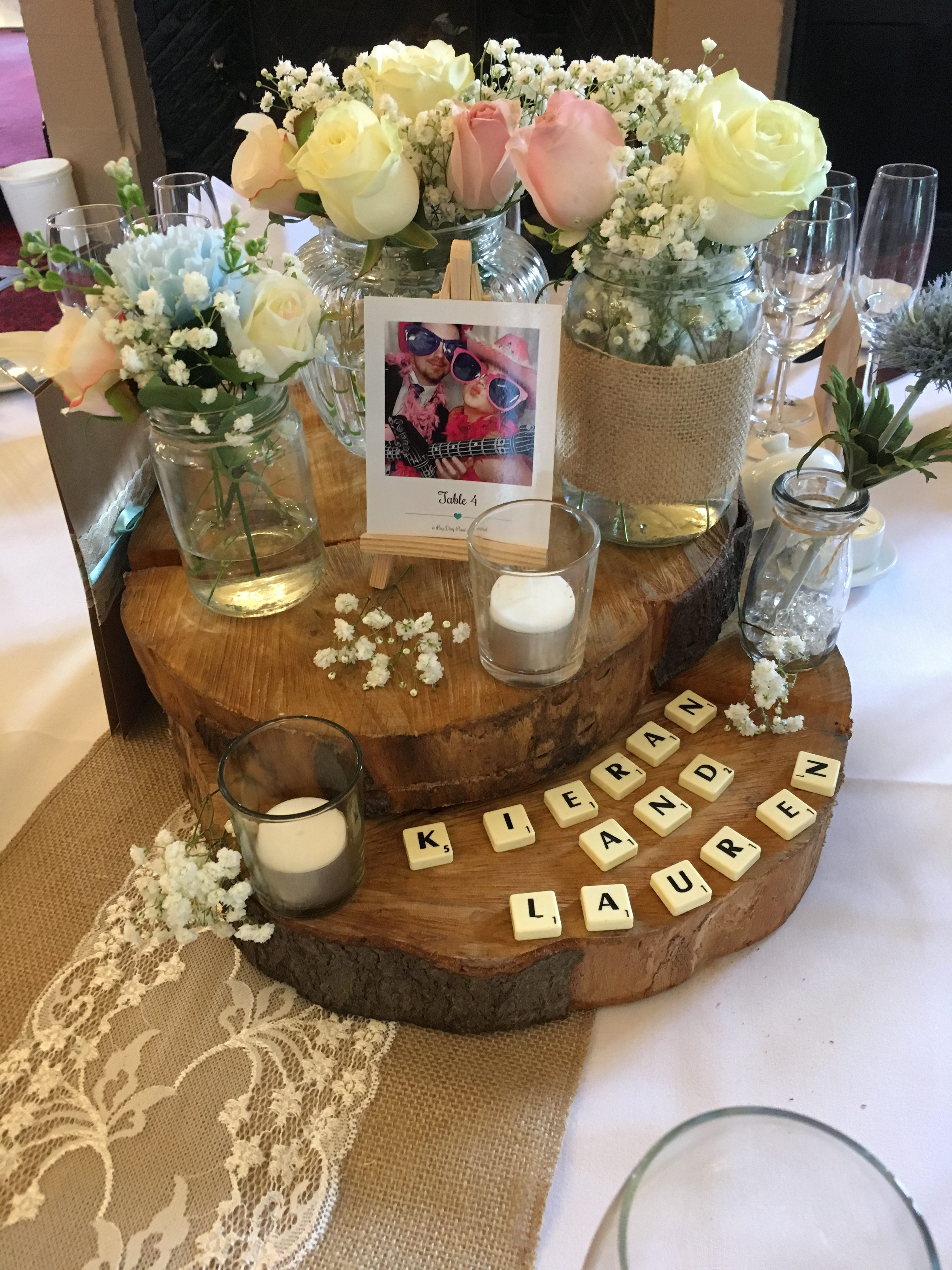 Giant Logs - Rustic Centrepiece Sophia's Final Touch - Venue Styling - Weddings