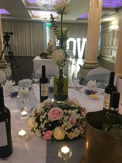 Gin Themed Centrepiece – Wedding Venue Styling- Sophia's Final Touch