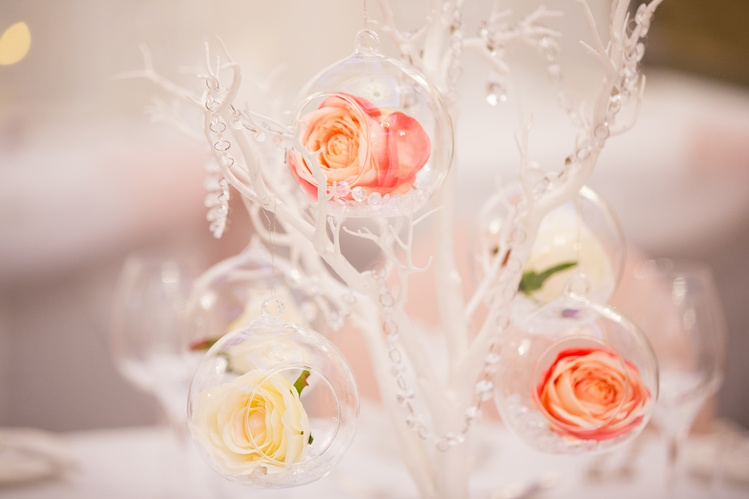 Glass Hanging Balls with flowers – Wedding Venue Styling- Sophia's Final Touch- Wedding & Event Decoration