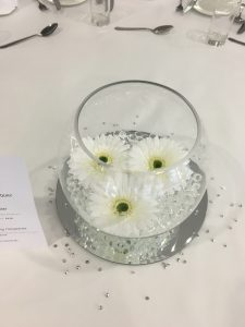 Goldfish Bowl with Floating Flowers – Prom Venue Styling- Sophia's Final Touch