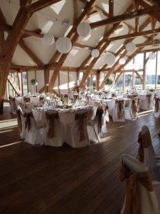 Hanging Paper Lanterns - Wedding Breakfast - Wedding Venue Styling- Sophia's Final Touch