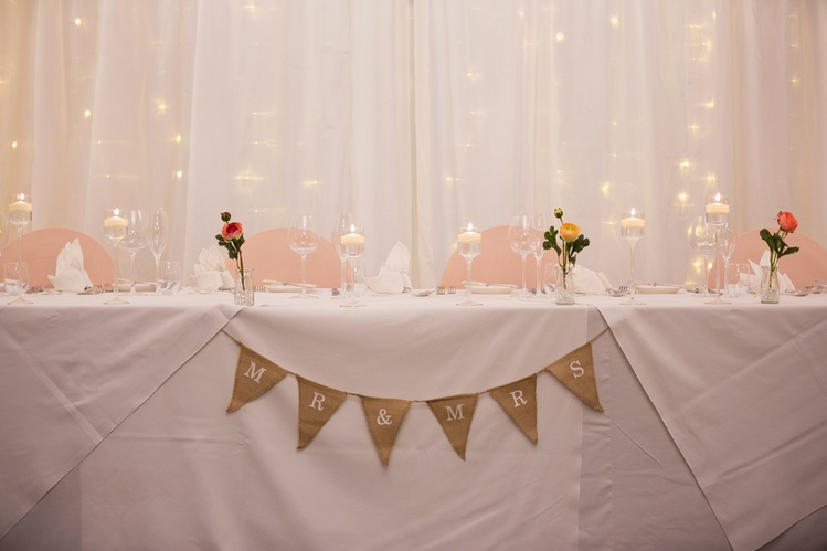 Hessian Mr & Mrs Bunting  - Sophia's Final Touch - Venue Styling - Weddings & Event Decoration