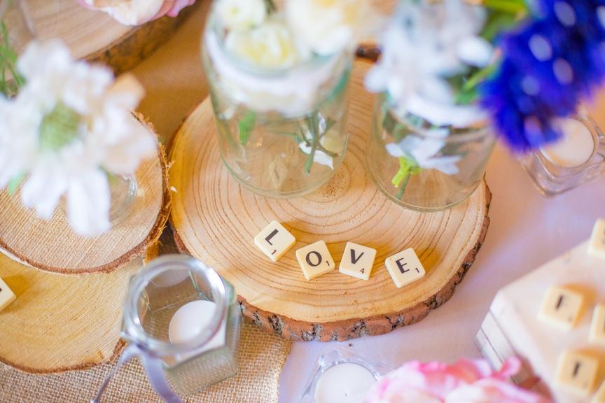 Love Scrabble Pieces - Sophia's Final Touch - Venue Styling - Weddings