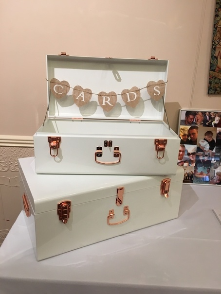 Luggage Case with Rose Gold Buckles - Cards - Wedding Venue Styling- Sophia's Final Touch