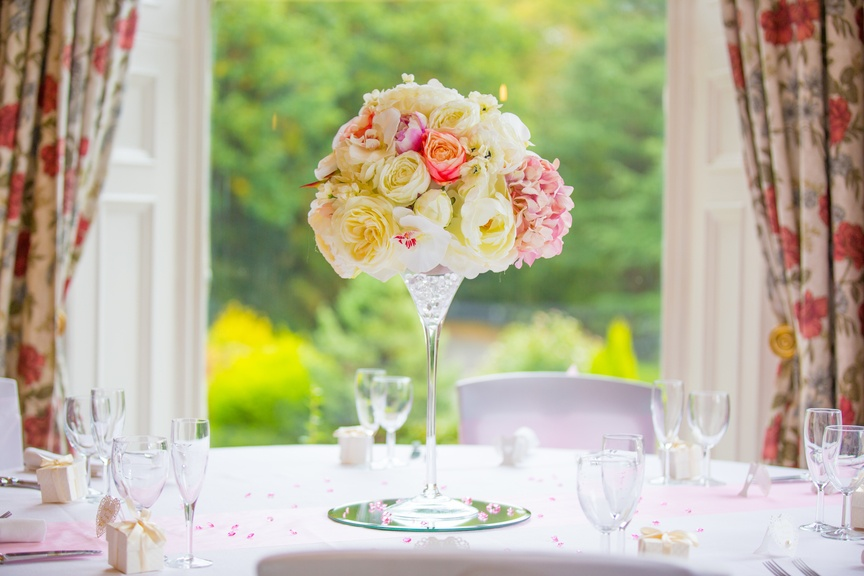 Martini Vase with Flower Top – Wedding Venue Styling- Sophia's Final Touch- Wedding & Event Decoration