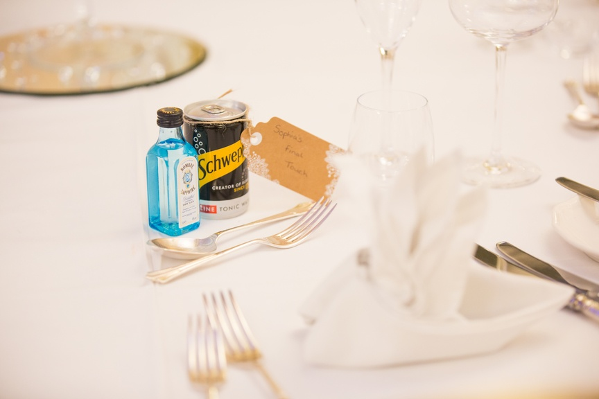Miniature Gin Favour - Sophia's Final Touch - Venue Styling - Weddings & Event Decoration