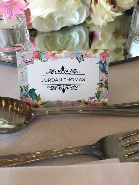 Personalised Printed Place Cards - Stationary - Wedding Venue Styling- Sophia's Final Touch
