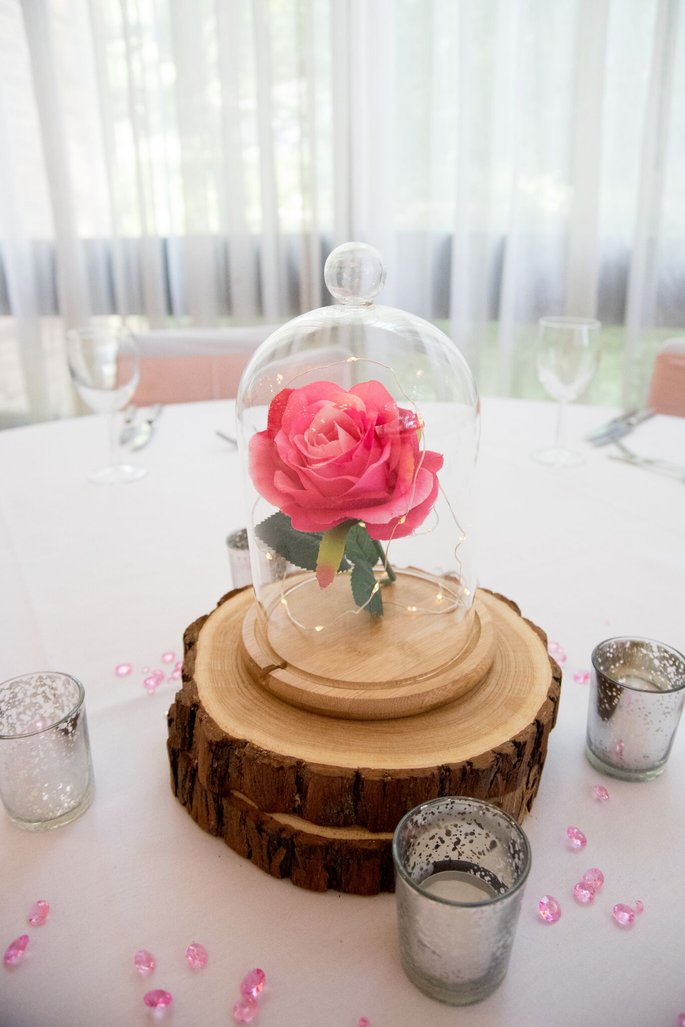 Pink Beauty with tea lights Photography - Adele Drummond Sophia's Final Touch - Venue Styling - Weddings