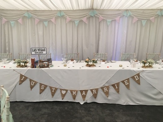 Pink and Green Bunting - Wedding Venue Styling- Sophia's Final Touch