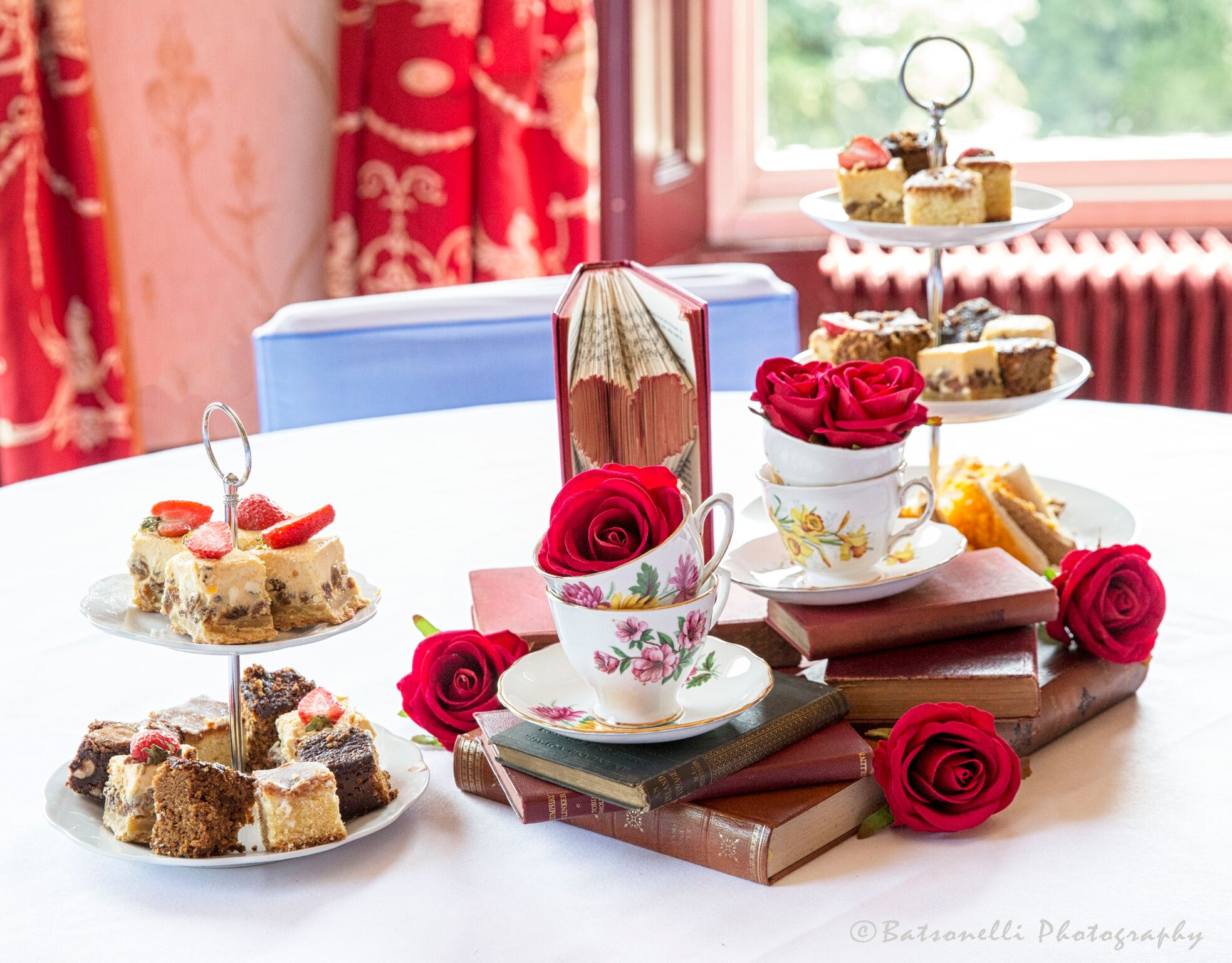 Red Tea cups Photography Gill Baston Sophia's Final Touch - Venue Styling - Weddings