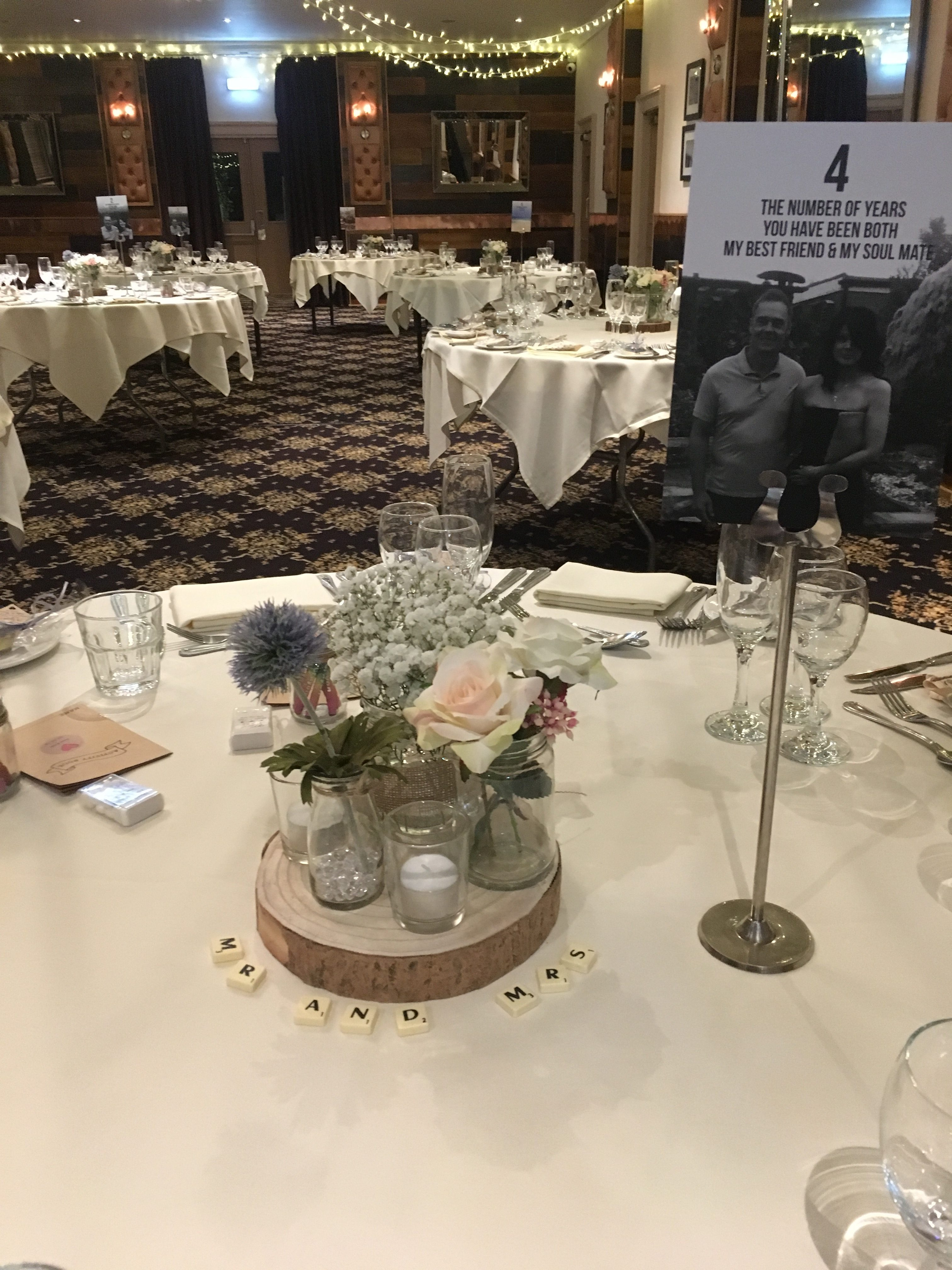 Rustic Jars - The Crown Bawtry Sophia's Final Touch - Venue Styling - Weddings