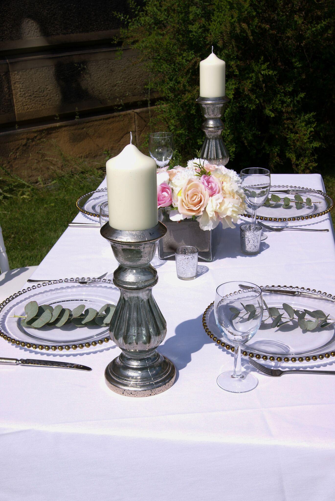 Single Candelabra Photography - Adele Drummond Sophia's Final Touch - Venue Styling - Weddings
