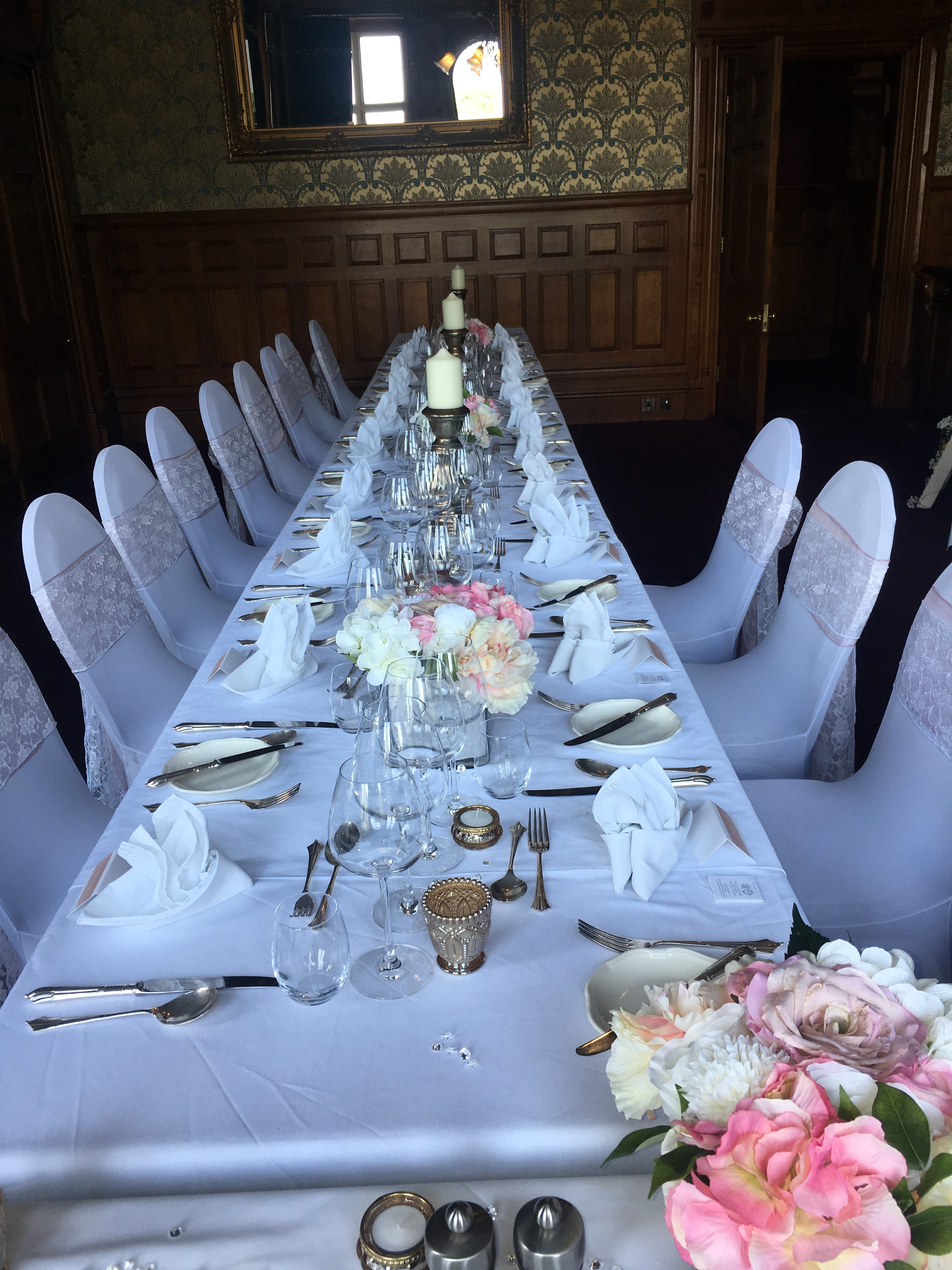 Single Candlesticks with flowers Sophia's Final Touch - Venue Styling - Weddings