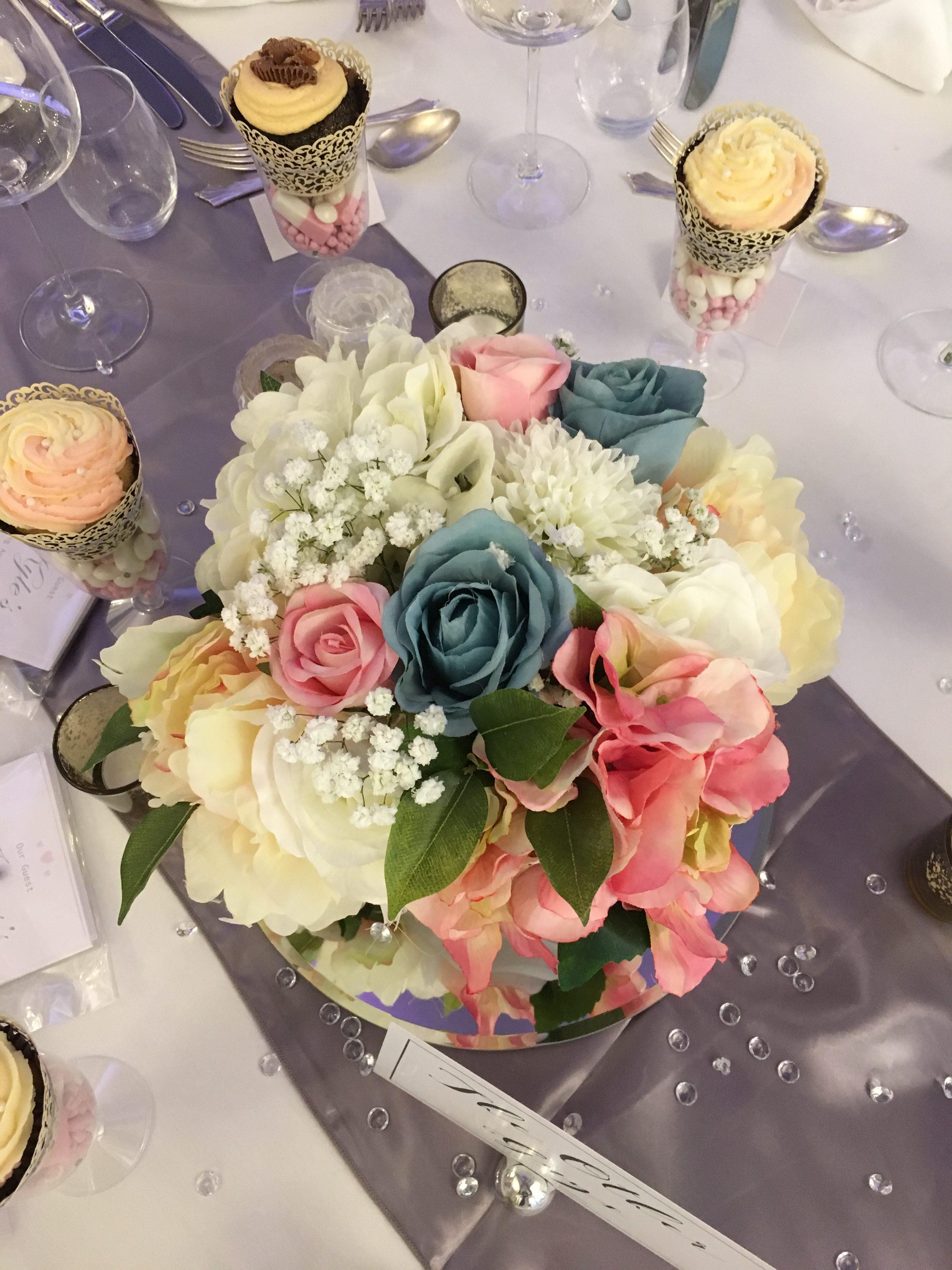 Square Pastel Flowers Pots