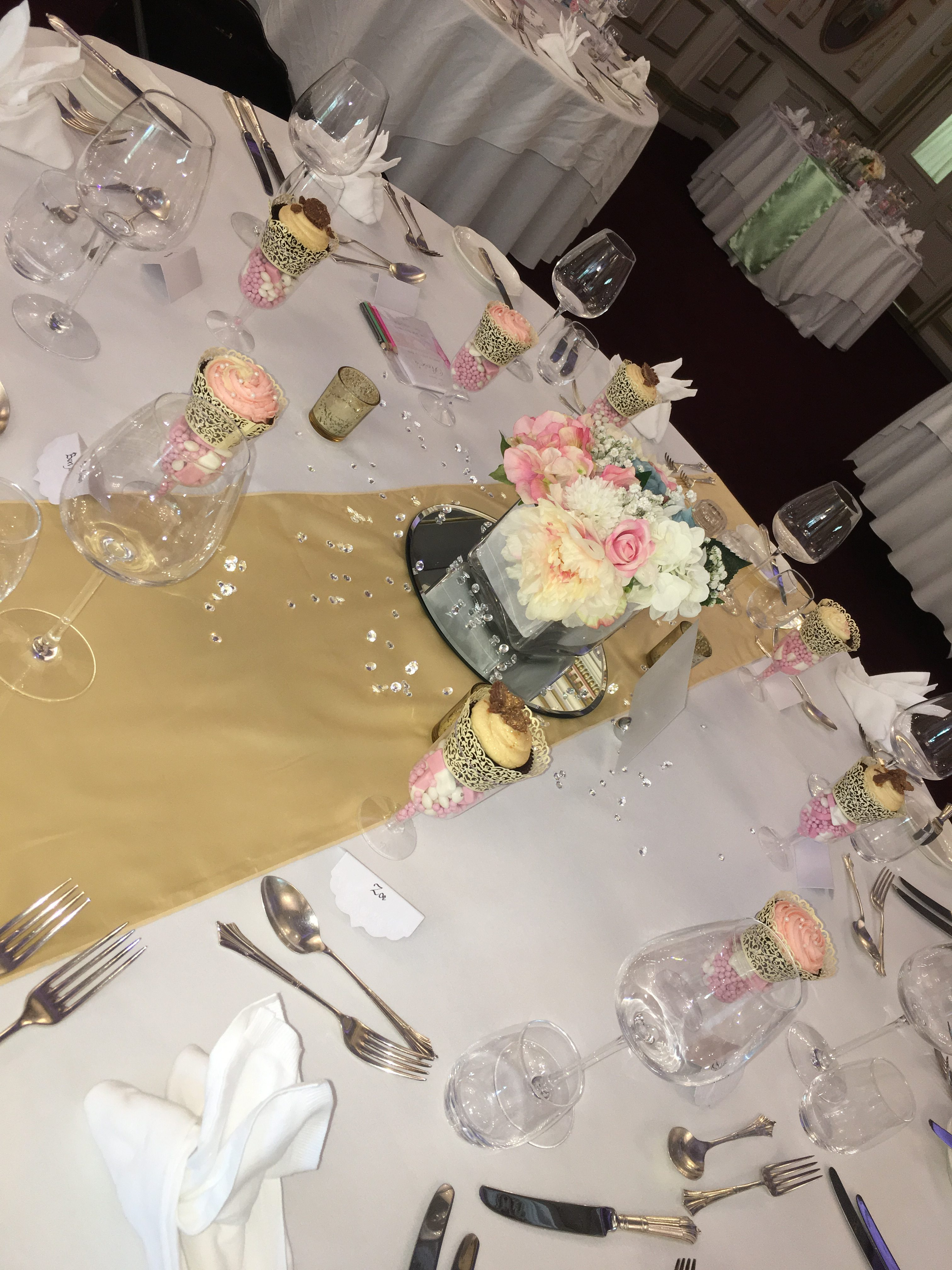 Square Pastel Flowers with gold Sophia's Final Touch - Venue Styling - Weddings