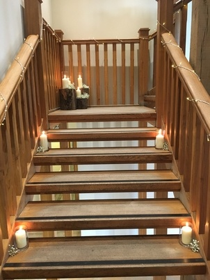 Stair case Decor - Wedding Venue Styling- Sophia's Final Touch
