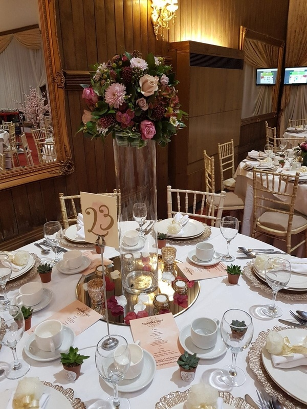 Tall Cylinder 60cm with Fresh Floral Arrangement Venue Styling- Sophia's Final Touch