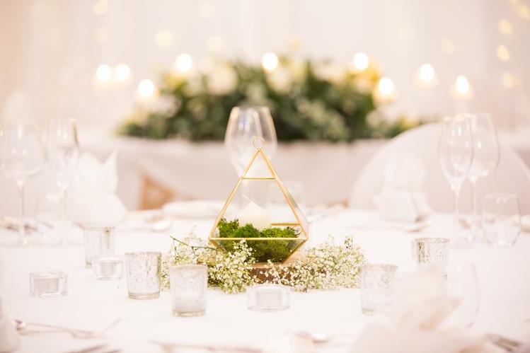 Terrarium Geometric Triangle Centrepiece– Wedding Venue Styling- Sophia's Final Touch- Wedding & Event Decoration